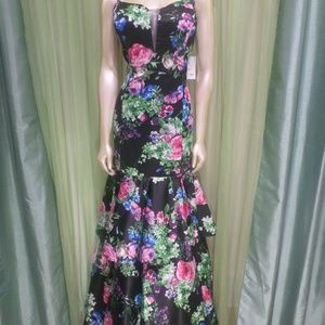 Masquerade Size 13 Prom Dress Floral Mermaid